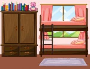 ארון ליד המיטה