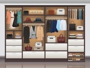 ארון בגדים לאחסון